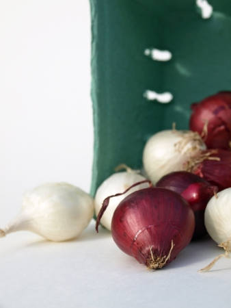 Onions with basket