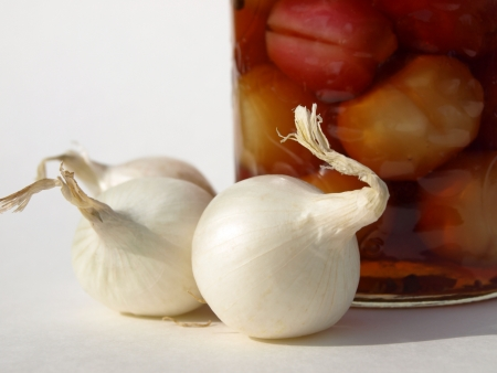 White onions upclose