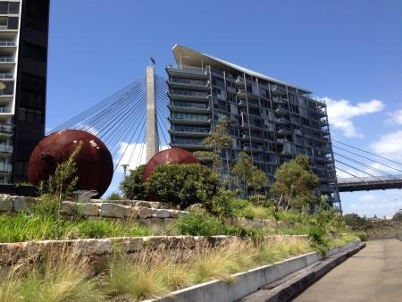 anzac: Anzac bridge Sydney Stock Photo