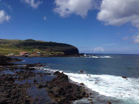 rapa nui: Costa en la Isla de Pascua Rapa Nui