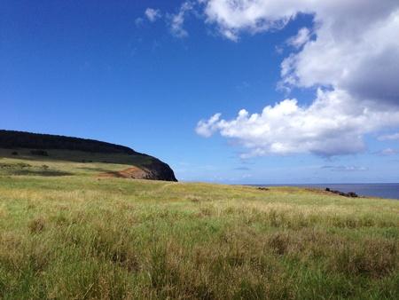 rapa nui: Paisaje rapa nui Pascua panorama isla Foto de archivo