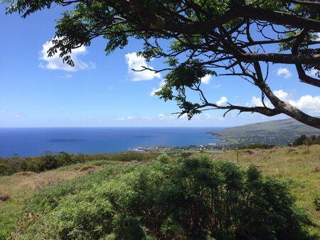 rapa: Landscape rapa nui easter island Stock Photo