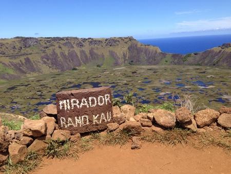 rapa nui: Rano kau volc�n Rapa Nui Isla de Pascua
