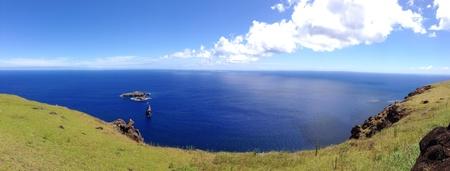 rapa nui: Paisaje Rapa Nui Isla de Pascua panorama