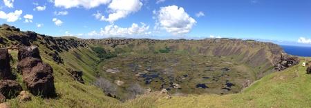 rapa nui: Rano kau Rapa Nui Isla de Pascua Foto de archivo