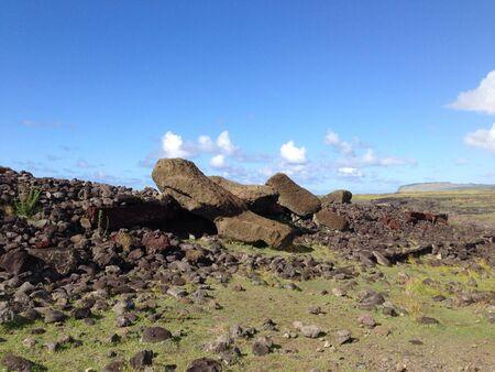 rapa nui: Moai de Rapa Nui Isla de Pascua