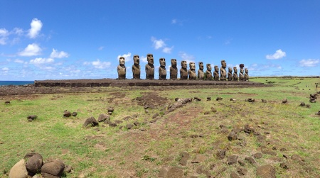 rapa nui: Ahu Tongariki Rapa Nui Isla de Pascua