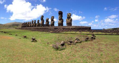 rapa nui: Panorama Ahu Tongariki Rapa Nui Isla de Pascua
