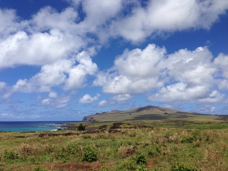 rapa: Landscape Rapa Nui Easter Island