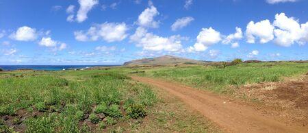 rapa: Landscape Rapa Nui Easter Island panorama