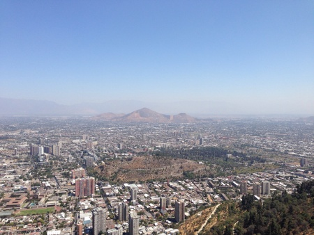 cristobal: Voew from the San Cristobal in santiago de chile