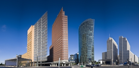 panoramic business: Skyscrapers of the Potsdamer Platz district, symbolizing Berlin