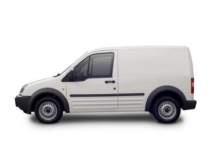 motor de carro: Blanco camioneta blanca listo para la marca con los trazados de recorte.