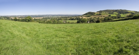 english oak: Idyllic rural view of pretty farmland in the beautiful surroundings of the Cotswolds, England, UK. Stock Photo