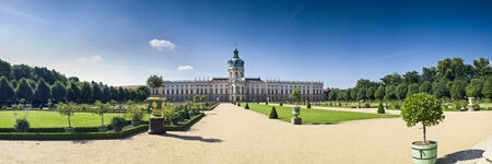 schloss: Exemplary Prussian baroque and rococo architecture of Schloss Charlottenburg Palace in Berlin, built in 1695. Editorial