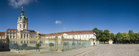 exemplary: Exemplary Prussian baroque and rococo architecture of Schloss Charlottenburg Palace in Berlin, built in 1695. Editorial