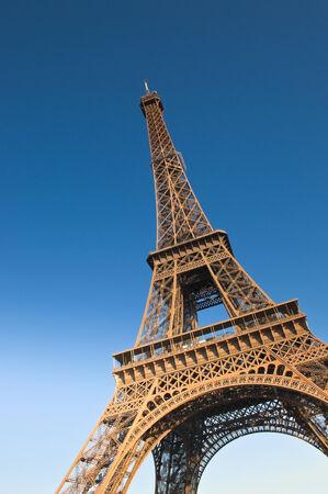 ile de france: Iconic Eiffel Tower (1889) symbol of Paris and Champ-De-Mars park.