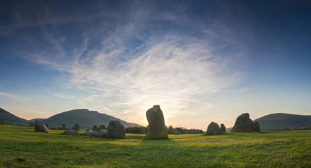 steencirkel: Oude steencirkel van Castlerigg 3200 BC Lake District, Cumbria, UK