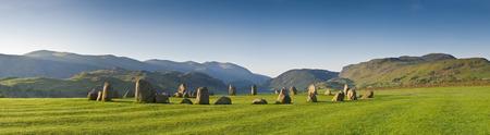 borrowdale: Ancient Castlerigg stone circle  3200 BC  Lake District, Cumbria, UK