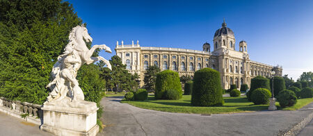 Early morning sun rising over Kunsthistorisches Natural History Museum  1891  in Vienna  photo