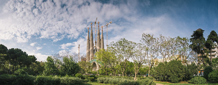 Sagrada Familia and cityscape view, Barcelona, Spain. Stock Photo
