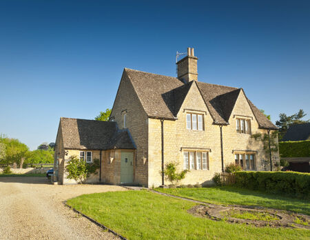 architecture detached house: Traditional rural homes and immaculate gardens