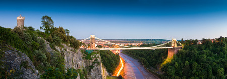 Victorian Clifton Suspension Bridge, Bristol, UK.