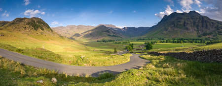 cumbria: Mountains and meadows in Cumbria, Uk  Stock Photo