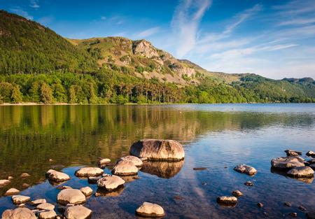 영어 호수 지구, Cumbria, 영국에서 경치 MONTAIN 스톡 콘텐츠