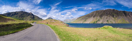 fells: View of Wast Water towards the screes of Yewbarow and Great Gable in the Lake District