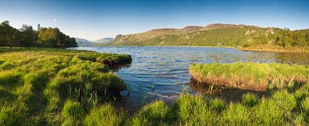 borrowdale: Derwent Water and Latrigg mountain backdrop, Lake District, Cumbria. Stock Photo