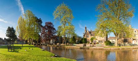 Village scene Bourton on the Water, UK Stock Photo