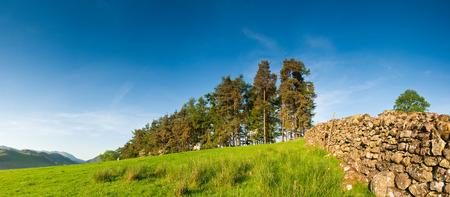 borrowdale: Rural scenic landscape, Lake District, UK