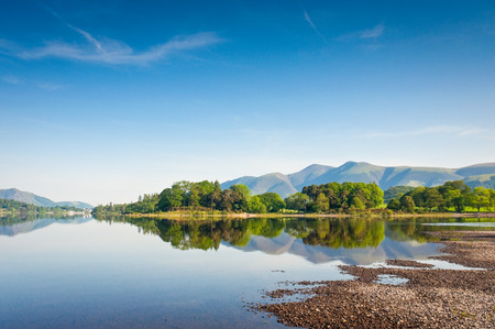 Derwent Water with Latrigg mountain backdrop in the English Lake District, UK. photo