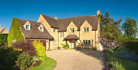 architecture detached house: Traditional rural homes and immaculate gardens.
