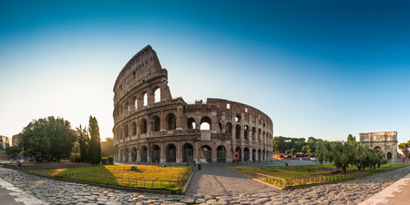 Sunrise at the Coliseum, Rome, Italy.