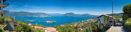 maggiore: Picturesque villas gazing over the beautiful lake Maggiore in the Italian Lake District.