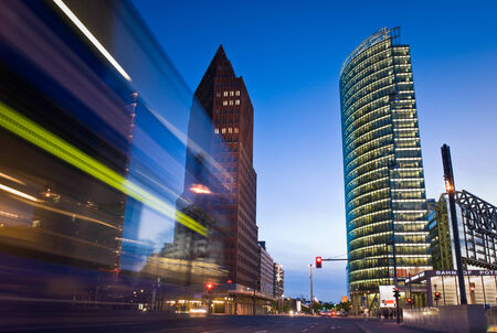 Skyscrapers of the Potsdamer Platz district, symbolizing Berlins regeneration.