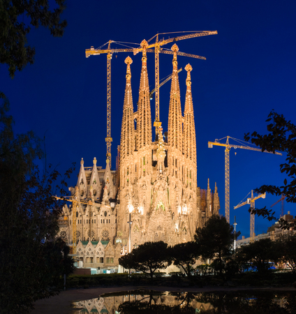 funded: Sagrada Familia. Antoni Gaudi dedicated his final forty years to the neogothic cathedral, partially completed in 1926, it is now funded by visitors donations. Editorial