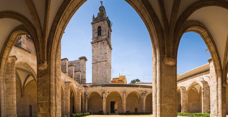 convent: Restored gothic arches of 15th Century convent in Valencia.