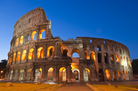 Rome's mighty Coliseum (AD 80) 写真素材