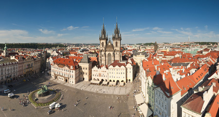 old town square: Large detailed panoramic of the Old Town Square in Prague