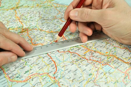touristic: The determination of course on the touristic map