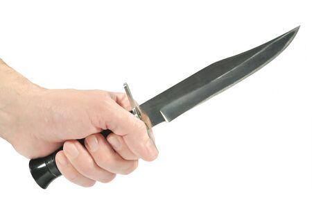 delincuencia: El cuchillo de caza en la mano