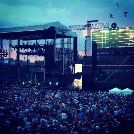 Pearl Jam at Wrigley Field 版權商用圖片