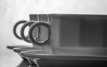 Cup and Saucer black   white photo
