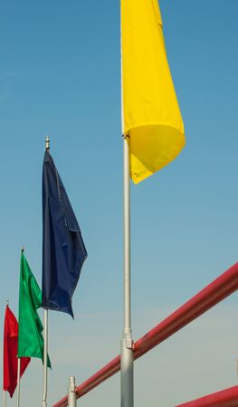 colorful flag set photo
