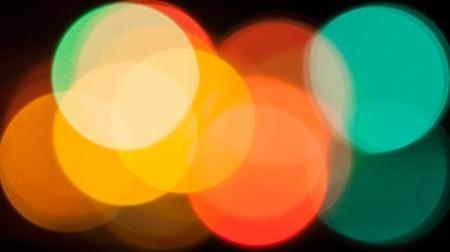 Bokeh lights red blue yellow green