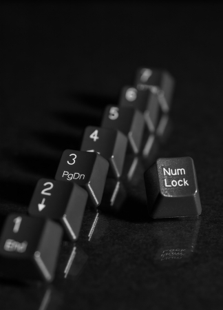6 7: black key board keys 1 2 3 4 5 6  7 and num lock