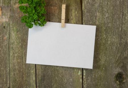 blank memo or menue space on wood